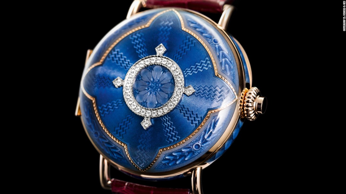 "<a href=""http://www.h-moser.com/en/"" target=""_blank"">H. Moser & Cie's</a> Perpetual Calendar Heritage was inspired by one of the company's 19th-century pocket watches."
