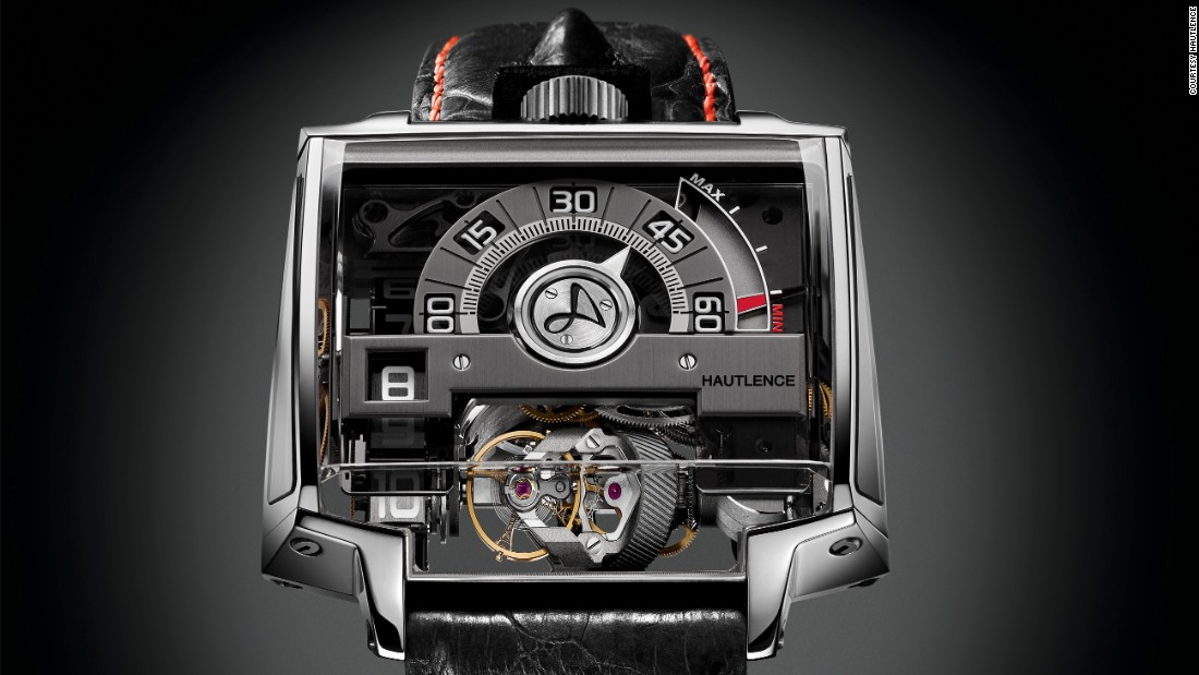 "The limited edition <a href=""http://www.hautlence.com/en/"" target=""_blank"">Hautlence</a> Vortex features the unconventional shapes and transparency the brand has built its name on."