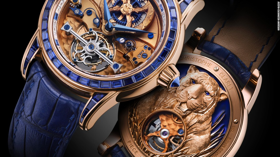 "Along with its traditional line, <a href=""http://www.christopheclaret.com/en/"" target=""_blank"">Christophe Claret</a> produces a line of limited edition art pieces. The Tiger Watch features sapphires set in rose gold, hand-engraved tiger detailing, and a crocodile strap."
