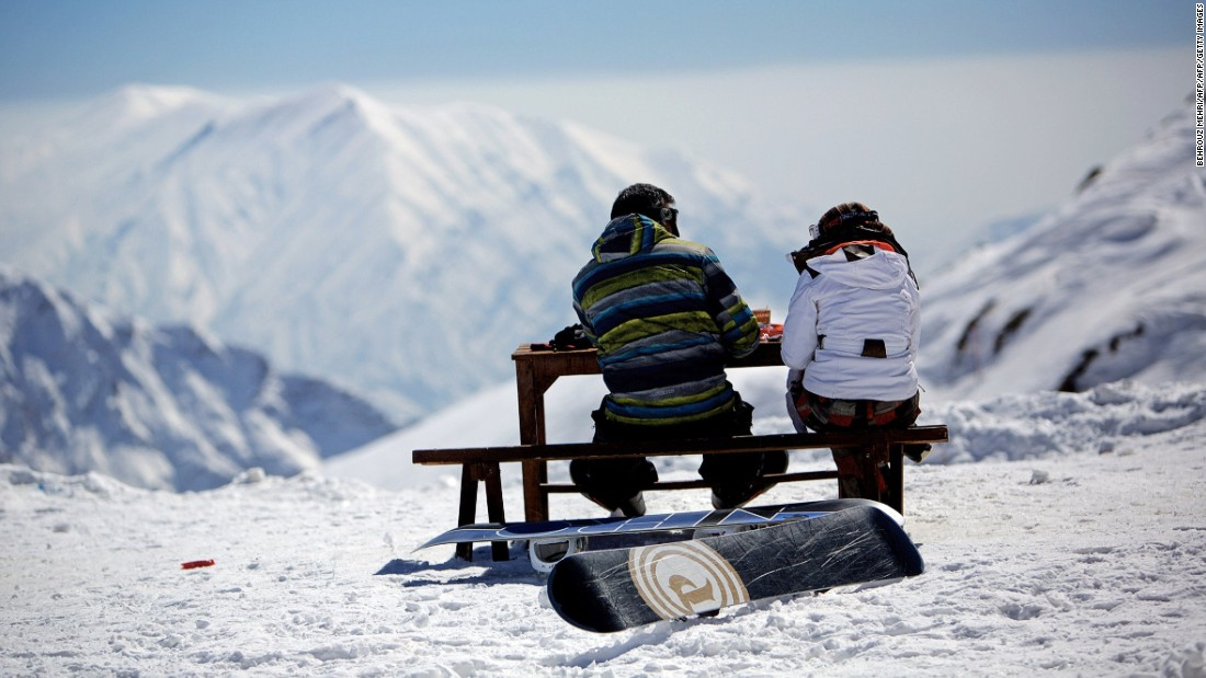 Near Tehran, in the Alborz Mountains, resorts are often quiet between Monday and Friday.