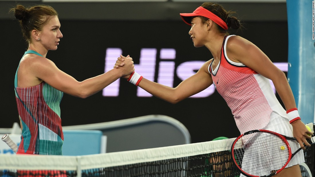 After winning three qualifying matches, Zhang shocked world No. 2 Simona Halep in the opening round in Melbourne.