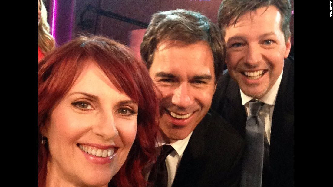 "Actor Sean Hayes, right, <a href=""https://twitter.com/theseanhayes/status/691505089182216192"" target=""_blank"">tweeted this selfie</a> with former ""Will & Grace"" castmates Eric McCormack and Megan Mullally on Sunday, January 24. They were reunited at NBC's tribute to director James Burrows."