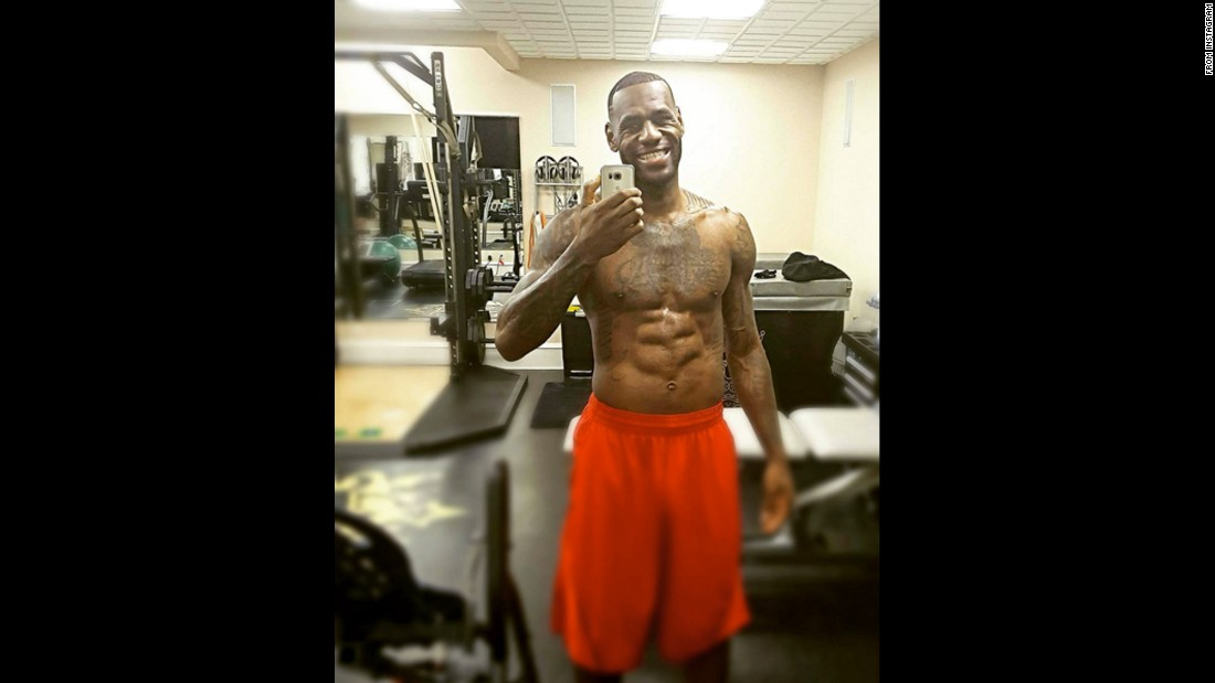 """That happy face I make when I finish that 7am workout,"" <a href=""https://www.instagram.com/p/BA9pZoBiTKT/"" target=""_blank"">basketball star LeBron James said</a> on Monday, January 25. ""Definitely not the face I had during!"""