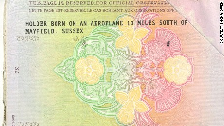 Birthplace bragging rights: Owen's unusual passport.
