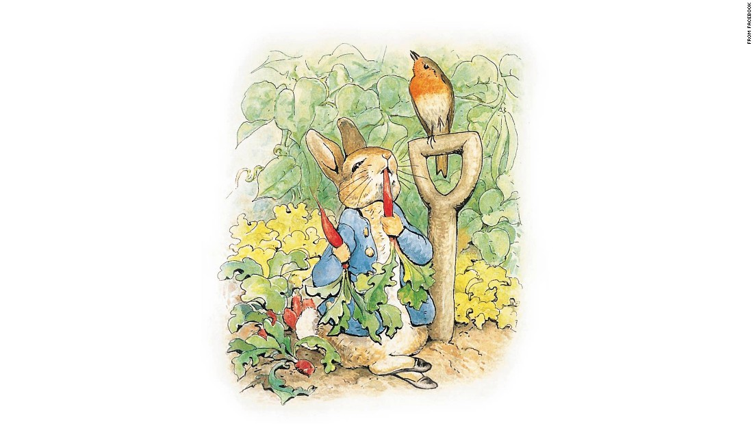 "Peter Rabbit, perhaps Potter's most famous character, makes an appearance in ""Kitty"" -- although he's much older and ""portlier"" than depicted here. ""It's a testament to Potter's imagination that she allowed him to grow up,"" said Jo Hanks, a publisher who discovered the new Potter story."