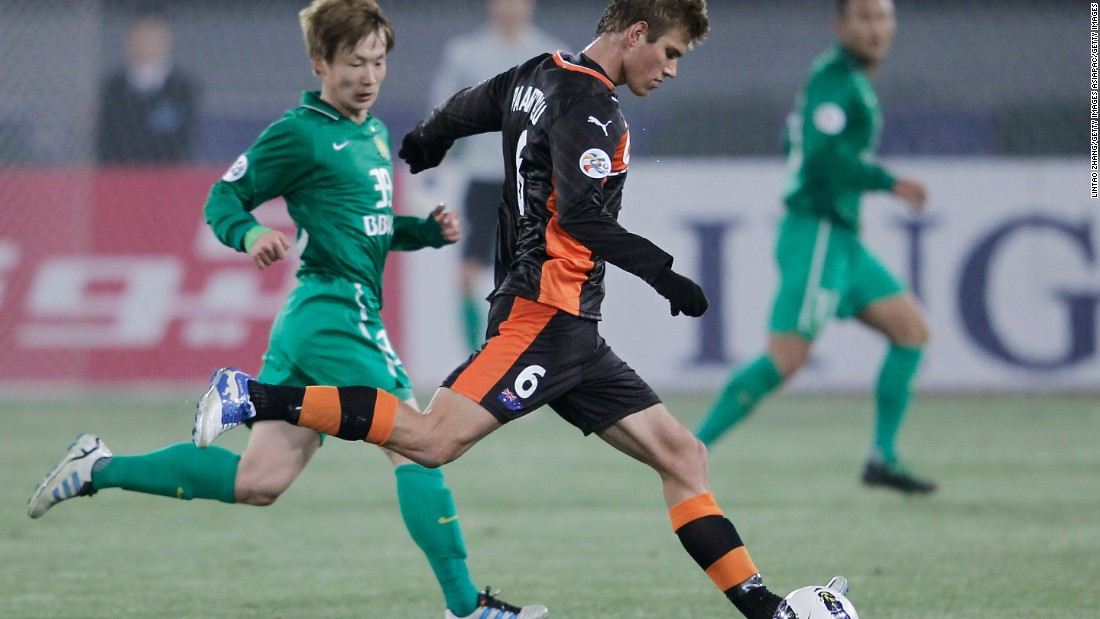 "Erik Paartalu (#6 with former team Brisbane Roar) lasted one year in the Chinese Super League with Tianjin Teda F.C. -- an experience he called ""one of the most challenging times in my life, but also one of the most rewarding."""