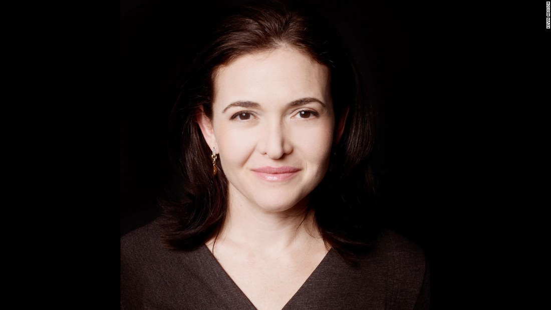 Portraits by Abosch -- such as this one of the Chief Operating Officer of Facebook -- are not for sale.