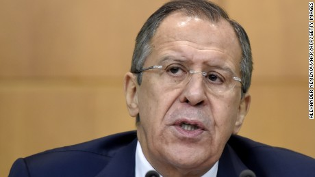 Russian Foreign Minister Sergei Lavrov at the Moscow press conference where he spoke on the Berlin case.