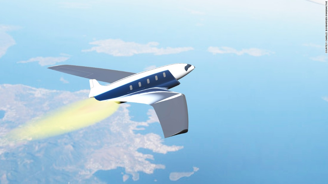 "The Antipode is one of Imaginactive's most ambitious designs. It suggests a model that can travel from London to New York in 11 minutes. <br />""It's all about innovation. Share your idea, and it opens up a door for other designers to build on it,"" <a href=""http://edition.cnn.com/2016/01/27/aviation/antipode-hypersonic-concept-plane/"">Bombardier</a> says."