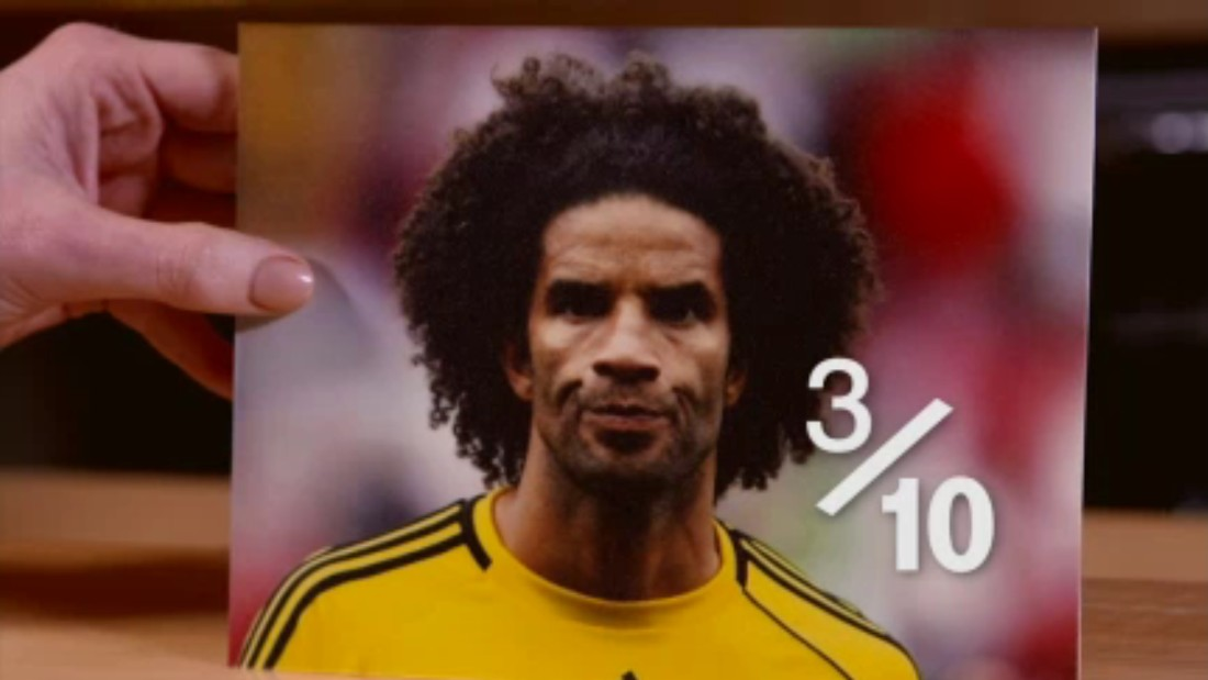 "With his afro pushed back, barely contained by his headband, David James made himself seem bigger and the goal seem smaller. ""It's not his worst"" laughs Hart. ""If bad is 10, that's a 3/10 maximum."""