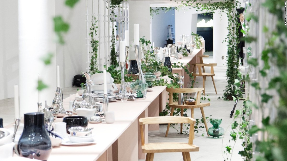 Visitors at Copenhagen's Bellakvarter were greeted by a 27 meter long dining table designed by Danish heritage brand Georg Jensen and stylist Marie Graunbol. But Northmodern design fair also offered some surprising design  from across Europe and the world...