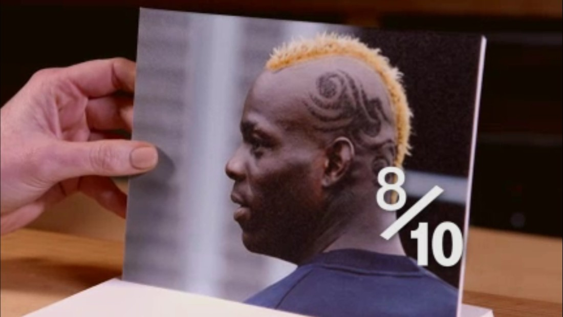"With more hairstyles than Liverpool goals, Mario Ballotelli offers plenty of looks to choose from. ""Oh God,"" laughs Hart, peering at a photo of his former City teammate. An orange Mohican complete with shaved-in decals? ""I'd describe it as standard,"" says Hart. ""That's a good 8/10"". Why always him?<br />"