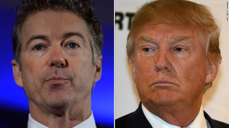 President Trump and Rand Paul before the thaw