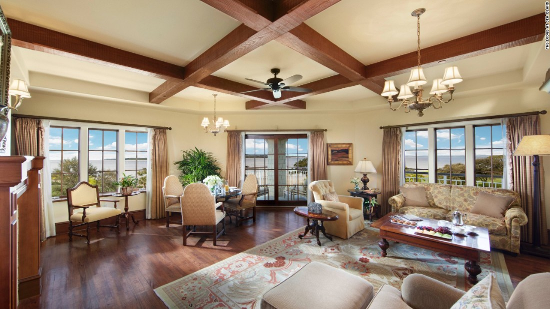 Luxury amenities abound at the No. 1-ranked Lodge at Sea Island on St. Simons Island, Georgia. The Lodge features spacious 700-square-foot rooms and is surrounded by two 18-hole championship golf courses.