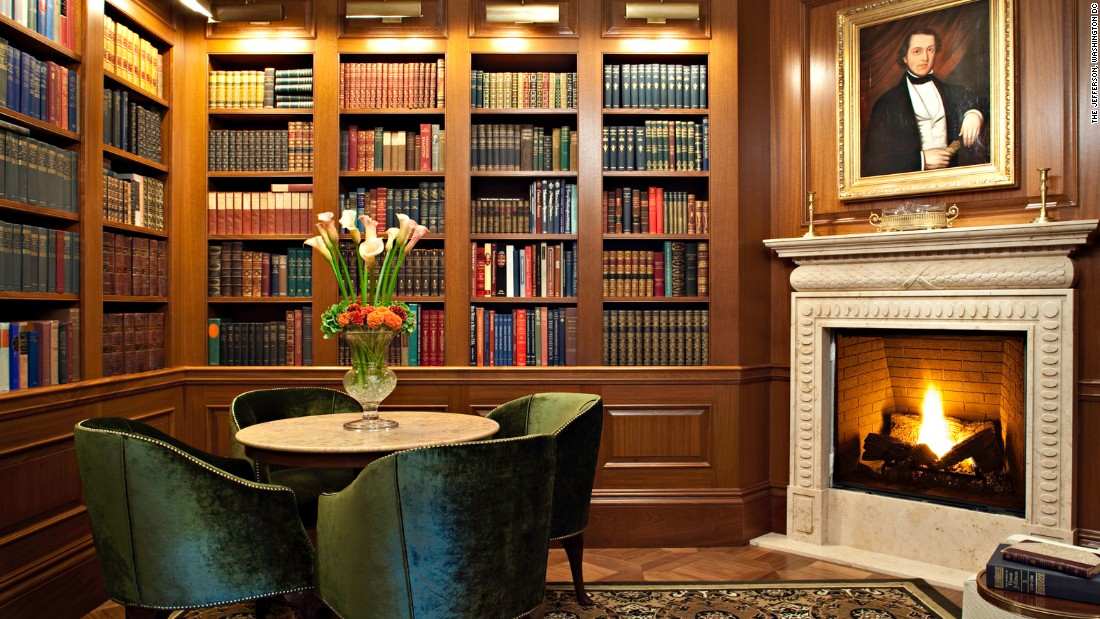 The 95-room Jefferson in Washington harkens back to its namesake with a library stocked with books related to Thomas Jefferson. The hotel has a rating of five on TripAdvisor, and the price for a regular room ranges from $337 to $609.