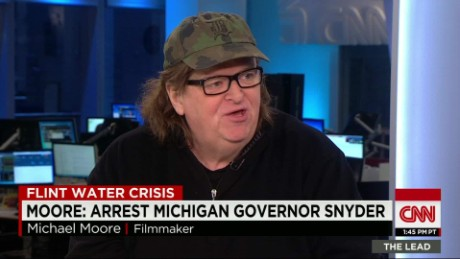 Flint native Michael Moore: Water crisis 'version of manslaughter'