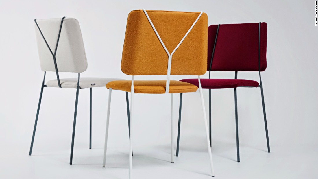 "This chair by Färg & Blanche is <a href=""http://www.fargblanche.com/FRANKIE-JOHANSON-DESIGN"" target=""_blank"">said</a> to be inspired by trouser braces."