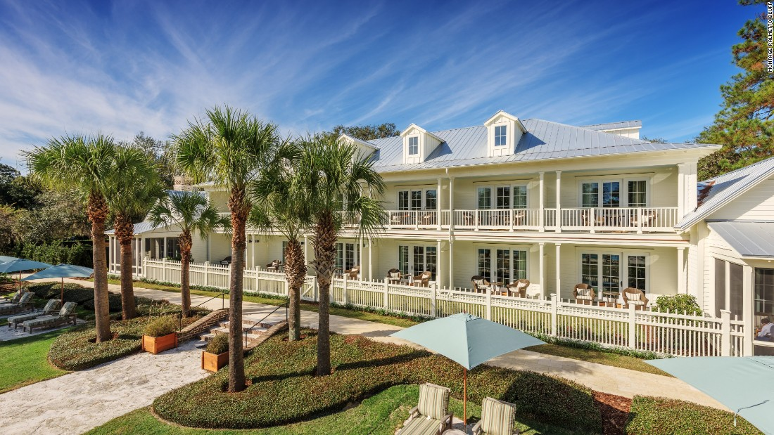 Montage Palmetto Bluff in Bluffton, South Carolina, takes pride in its Southern charm. The hotel features 24-hour in-room dining, a spa and salon.