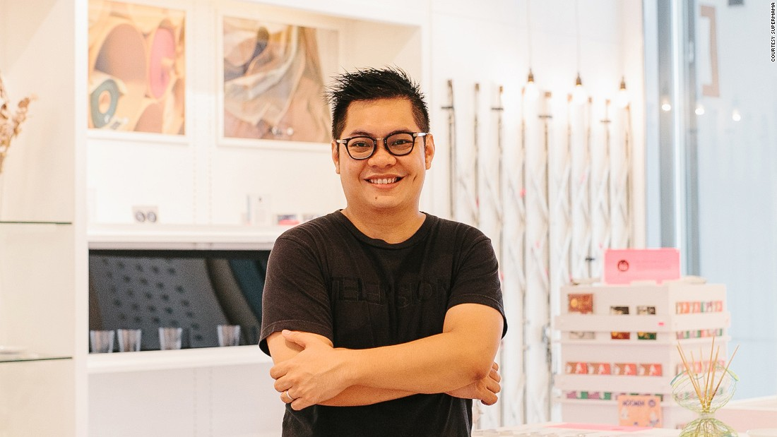"Edwin Low says the objects he designs reflect Singapore's past. ""There is 700 years of history to be told and I want to tell it through creative ways."""