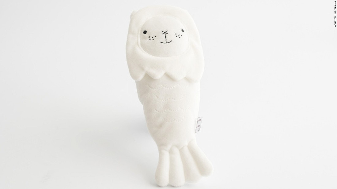 Singapore's unofficial national icon, the mythical merlion, is available in cuddly toy form designed by Supermama.
