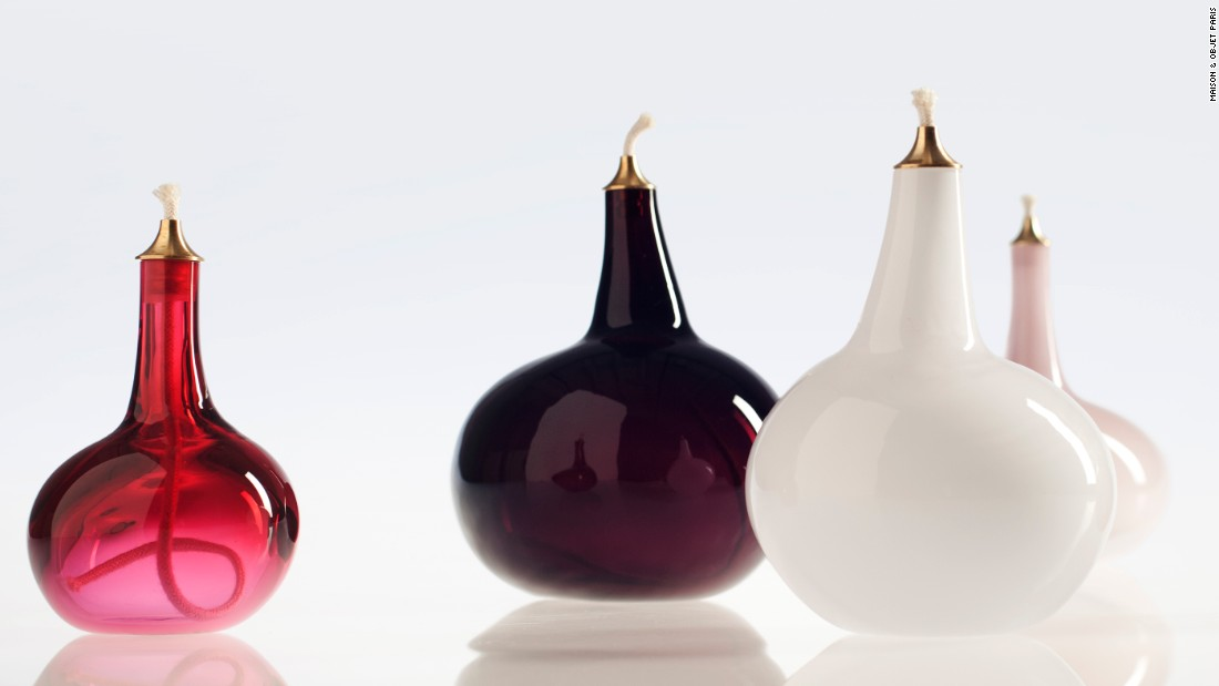 Pulu Lamps are a series of free -blown glass oil lamps by Finnish designer, Katriina Nuutinen.