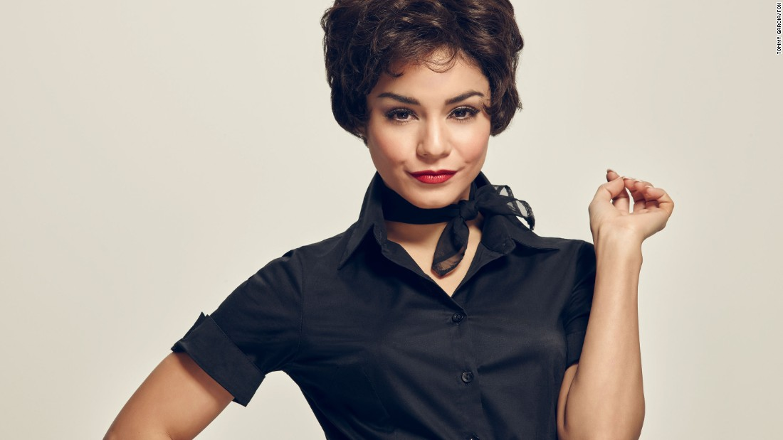 "Vanessa Hudgens takes on the Rizzo role in ""Grease: Live."" The performer has been in ""High School Musical"" and ""Spring Breakers,"" as well as a stage version of ""Gigi."""