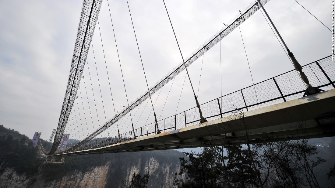 Once complete, the bridge will be able to support a maximum of 800 people at a time.