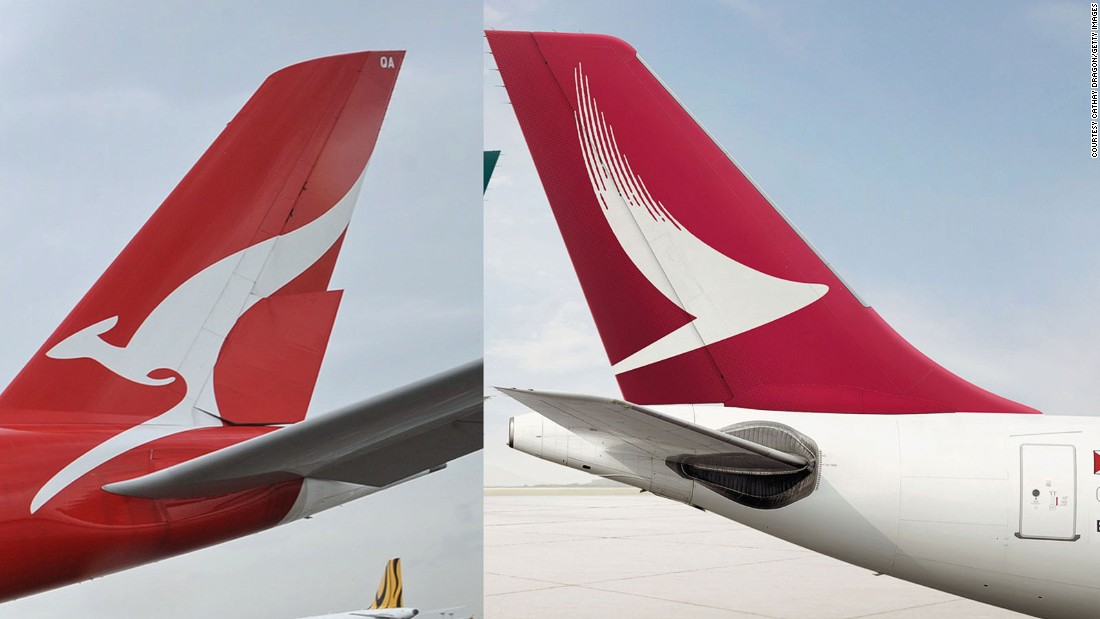 Does it resemble the design sported by Aussie carrier Qantas? Maybe, from a distance.