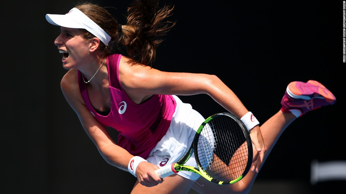 Australia-born Konta was playing in the first grand slam semifinal of her career, and was the first British representative to reach the last four since 1983.