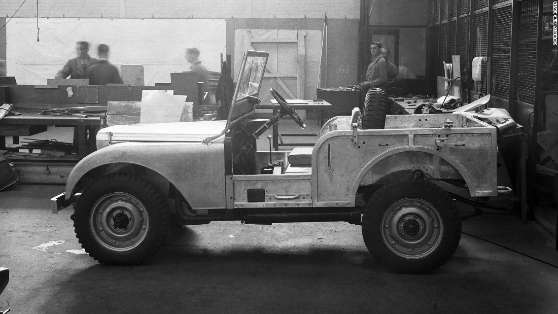 The original Land Rover prototype was built in 1947 and featured a central driving position.
