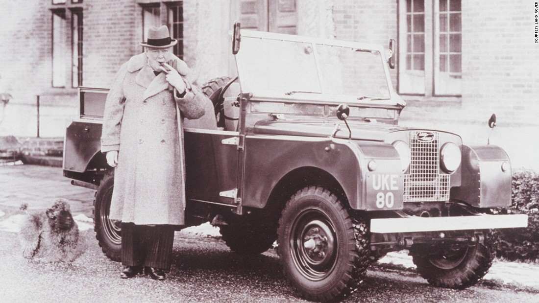 British legends like Winston Churchill were happy to pose alongside the Land Rover.