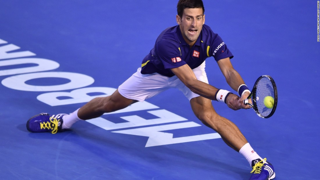 Djokovic made a lightning start to the match and triumphed 6-1 6-2 3-6 6-3 to become the first man in the Open Era to reach six Australian Open finals -- the Serb has won his previous five.