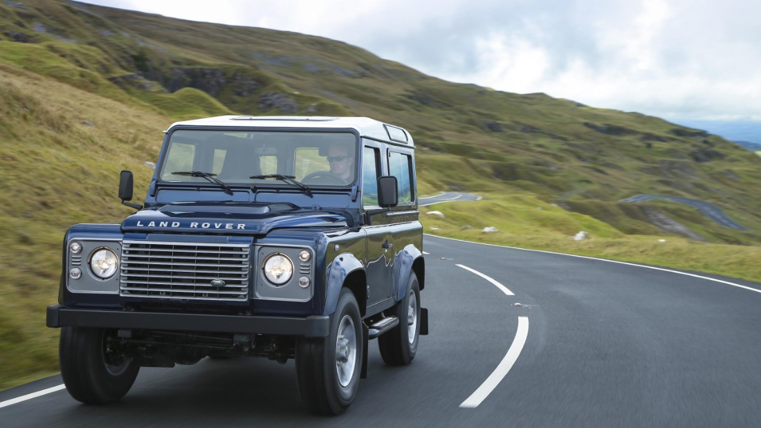 Land Rover updated the car, but even its modernized version was pretty rugged.