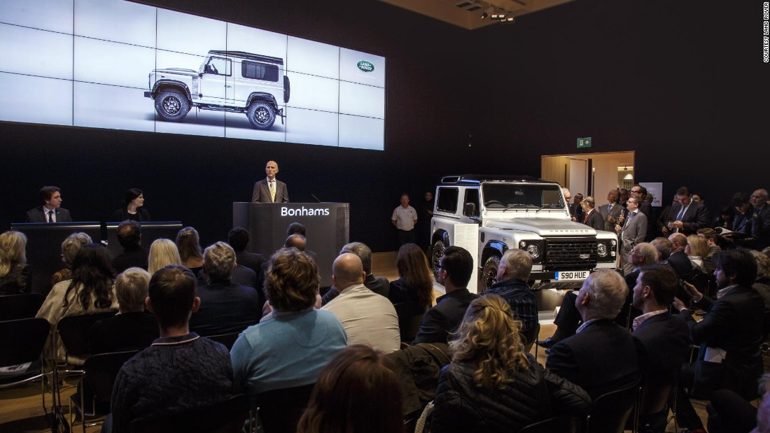 The two millionth Defender was sold at auction, raising £400,000 ($573,000 USD) for charity.