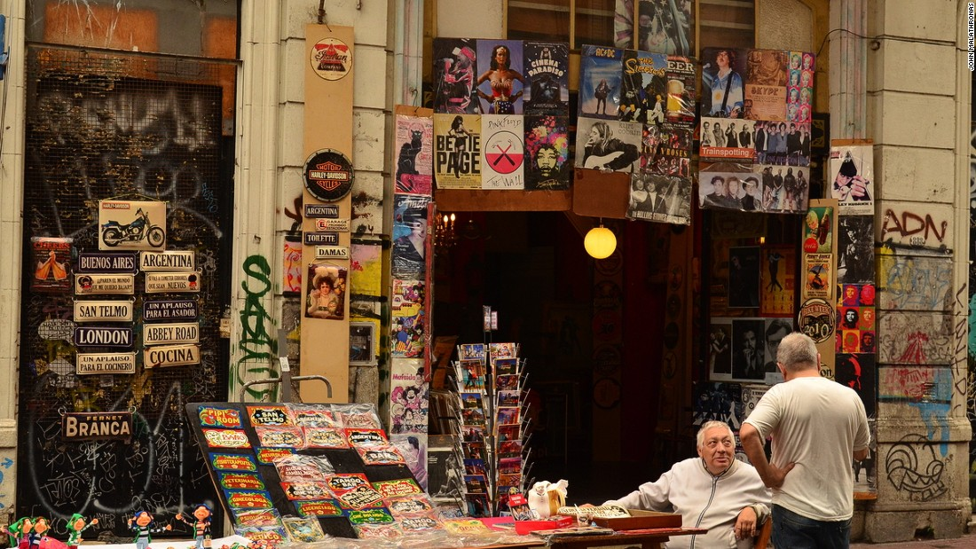 San Telmo operates as the principal open-air antique market in the Argentinian capital. It has food vendors, book sellers, beer stands and more.
