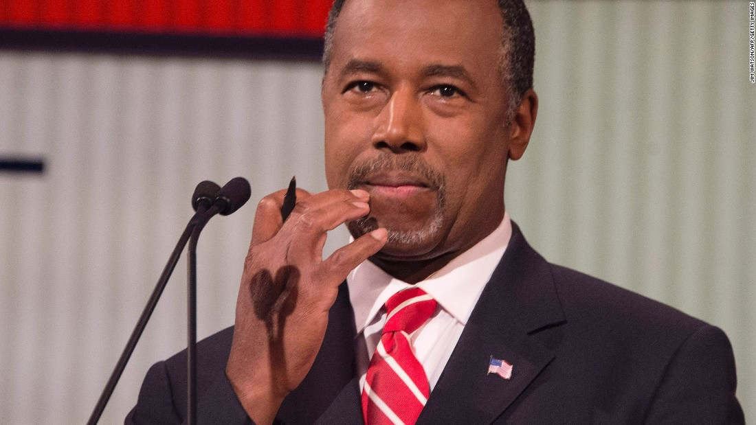 """I've had more 2 a.m. phone calls than anybody here, making life or death decisions,"" Carson said in his opening pitch.<br />"
