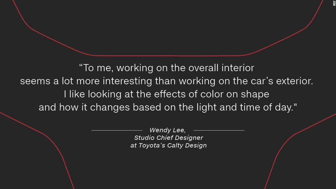 "Previously, an interior design at Barth and Dreyfus, specializing in home accessories, Lee now uses her creative flair on cars. ""To me, working on the overall interior seems a lot more interesting than working on the car's exterior. I'm able to put more emphasis on the tactile aspects and nuances of the vehicle. I like looking at the effects of color on shape and how it changes based on the light and time of day."