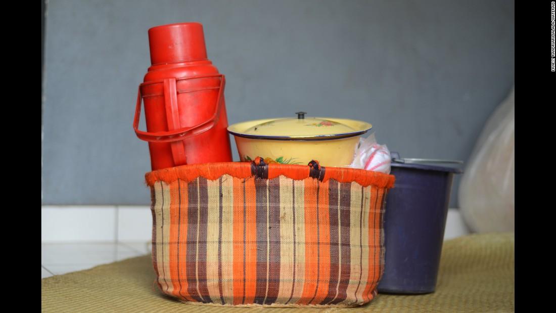 Razafindrabary Claudine's maternity basket.