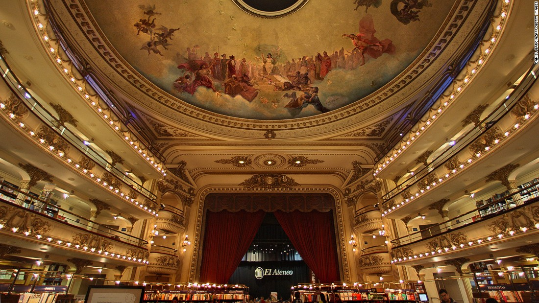 Some bookstores are cooler than others. The stunning El Ateneo in Buenos Aires was once a theater. The boxes have been turned into reading spaces.