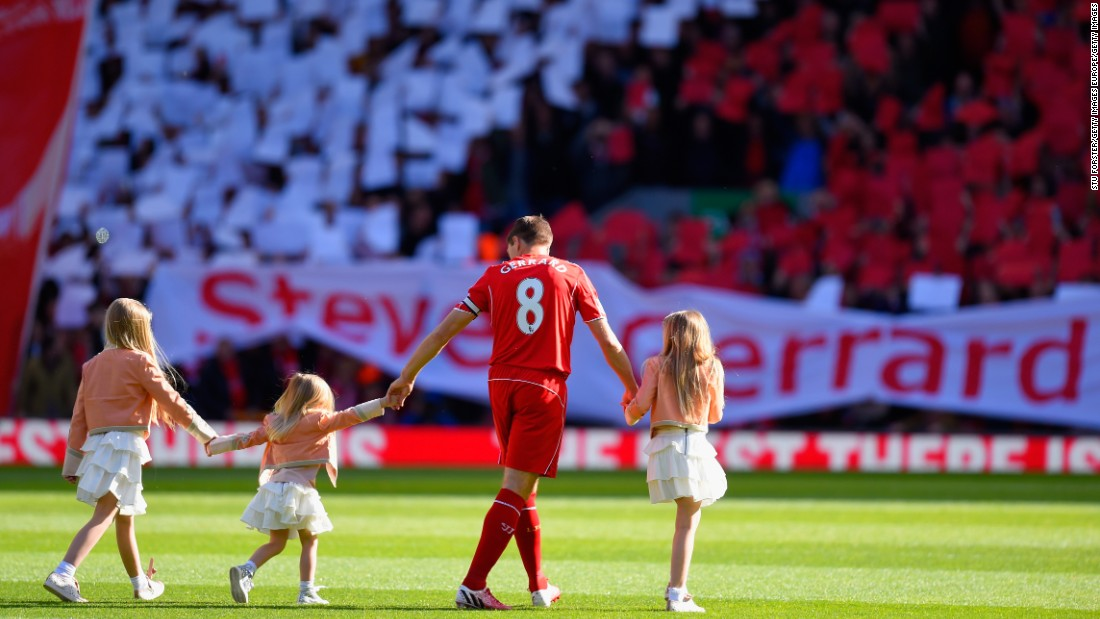 Gerrard was given an emotional send off-when he departed Liverpool in 2015, joining Major League Soccer team LA Galaxy.