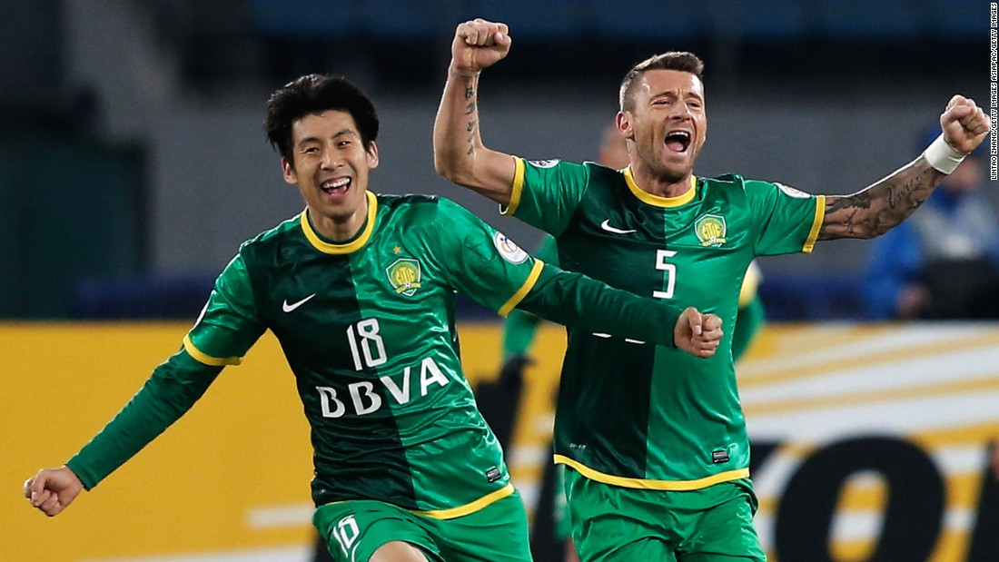 Darko Matic (R) has had a lot to celebrate since moving to China nearly 10 years ago. He's now plays for Changchun Yatai Matic, has learned Mandarin and is considering remaining in the country after his career ends.