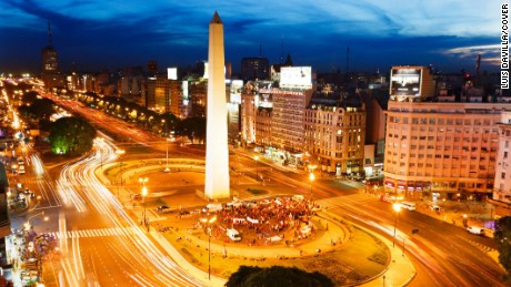 Obelisk on Avenue 9 de Julio in Buenos Aires, December 2010. (Photo by Luis Davilla/Cover/Getty Images)