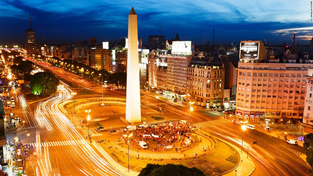 The Obelisk is a central feature of Avenue 9 de Julio in Buenos Aires, popularly recognized as the widest avenue in the world.