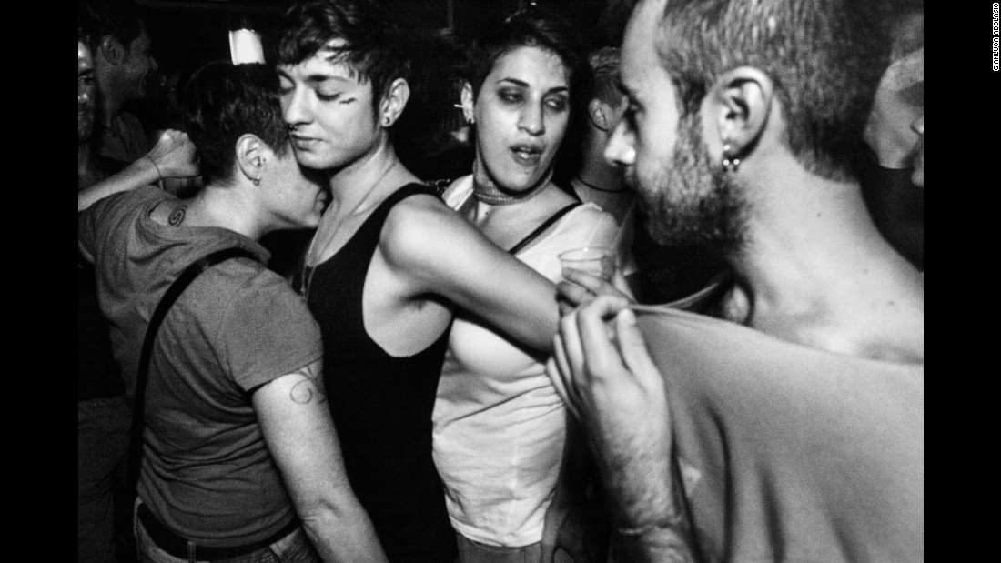 "Dario dances in a Rome club with some friends in 2011. ""When I saw him (for the) first time ... I (saw) a person that is followed by many,"" Abblasio said. ""A kind of magnetic energy that can influence other people."""