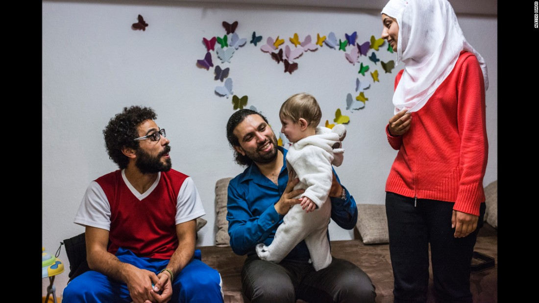 Somar spends time with Mousab, his sister-in-law and his nephew in Germany.