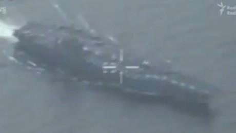 Iran reveals video of U.S. Navy ship