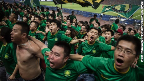 Chinese football clubs spending big