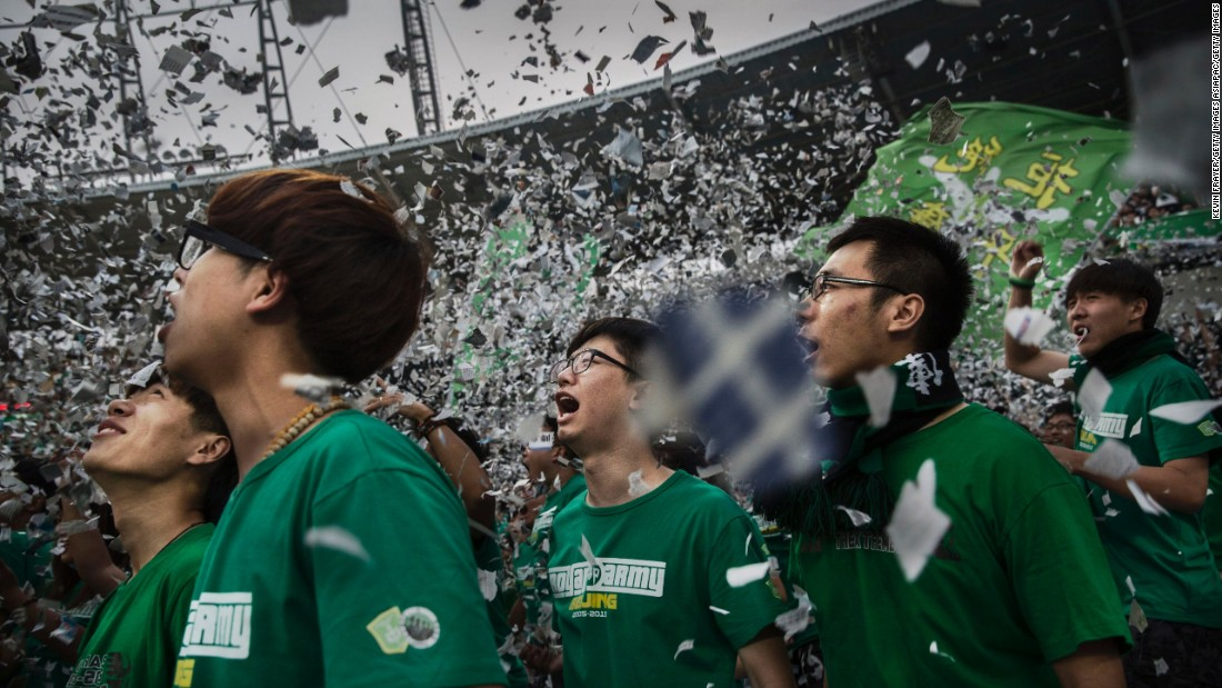 Chinese football's top tier is now the most watched league in Asia, and in a strictly controlled society matches offer the rare sight of tens of thousands of people in spontaneous displays of emotion, joy and anger.