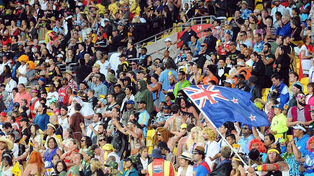 About 30,000 fans turned up over the two days to cheer on the teams. While numbers were not close to filling the Westpac Stadium's capacity of 34,500, the crowd was its  usual colorful, creative, chaotic self.