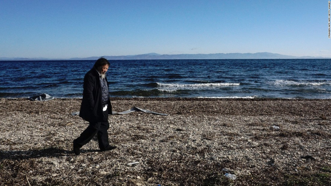 Ai Weiwei has been working out of Lesbos -- documenting the plight of Syrian migrants.